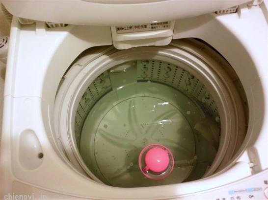 洗濯槽のごみ前