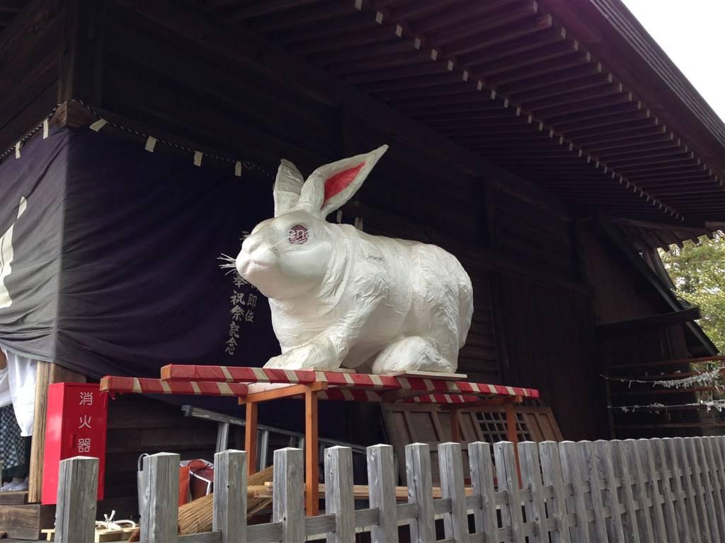 兎足神社張り子